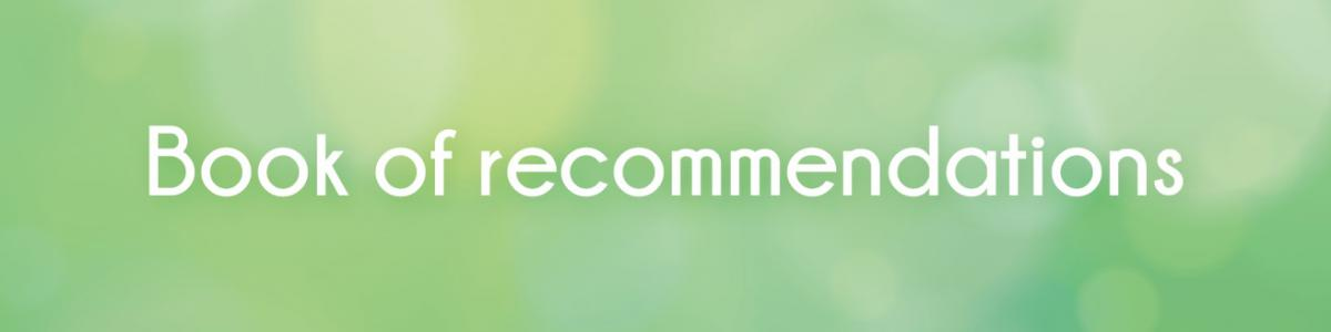 Book of recommendations banner