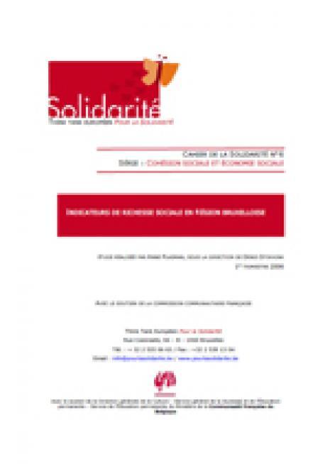 Indicateurs de richesse sociale en Région bruxelloise - cover