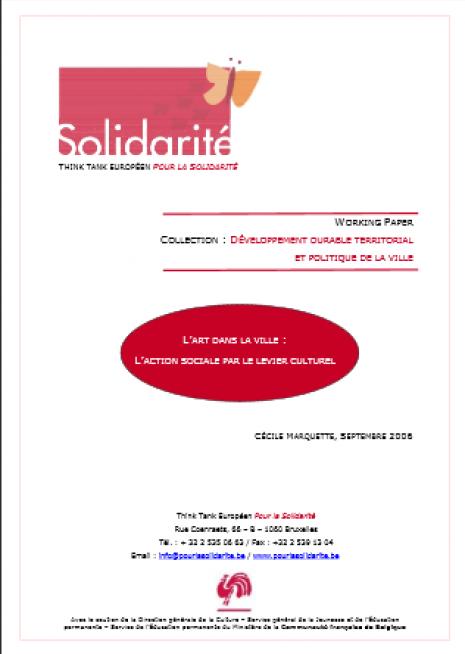 image couverture L' ART DANS LA VILLE : L' ACTION SOCIALE PAR LE LEVIER CULTURE