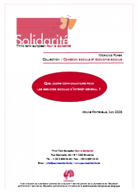 image couverture Q UEL CADRE COMMUNAUTAIRE POUR LES SERVICES SOCIAUX D ' INTÉRÊT GÉNÉRAL