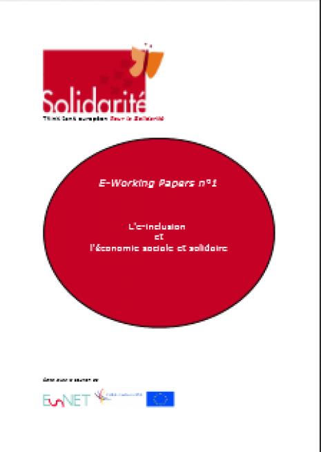 image couverture L'e - inclusion et l' économie sociale et solidaire