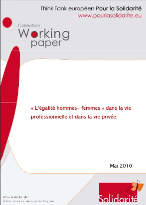 image couverture « L'égalité hommes- femmes » dans la vie professionnelle et dans la vie privée