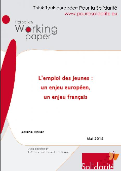 image couverture emploi des jeunes enjeu européen enjeu français