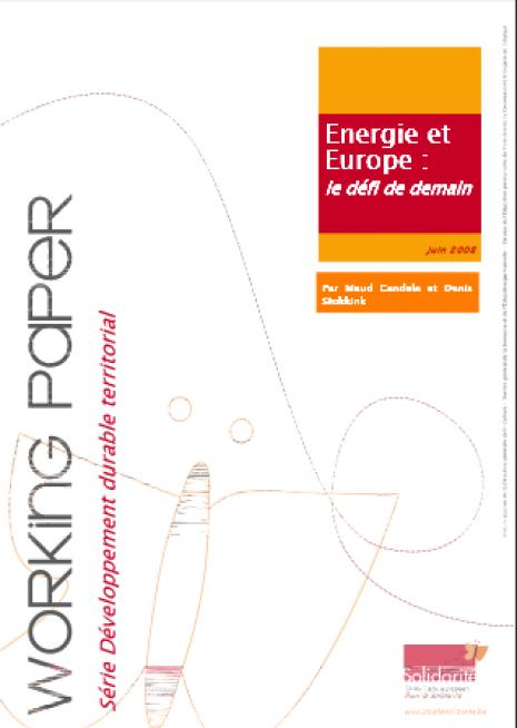 image couverture europe et énergie le défi de demain
