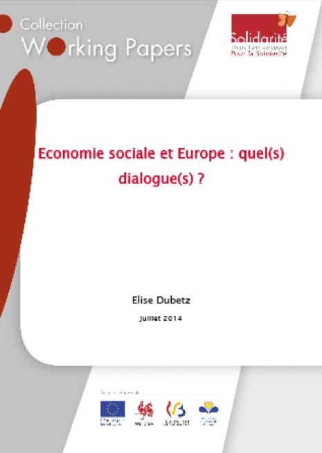 image couverture Economie sociale et Europe : quel(s) dialogue(s) ?
