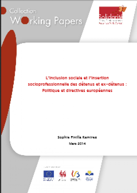 image couverture L'inclusion sociale et l'insertion socioprofessionnelle des détenus et ex - détenus : Politique et directives européennes