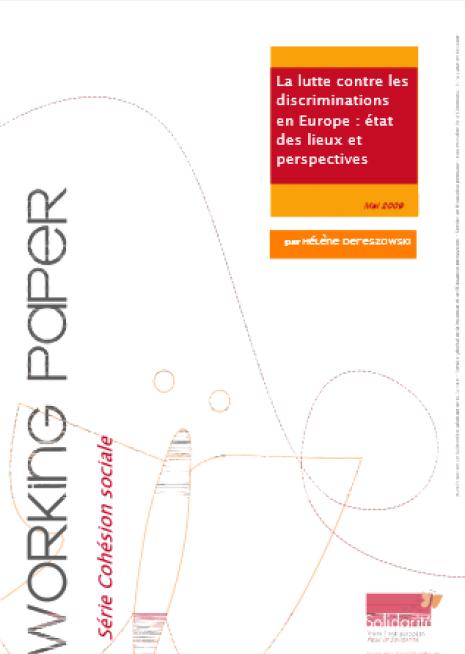 image couverture La lutte contre les discriminations en Europe : état des lieux et perspectives