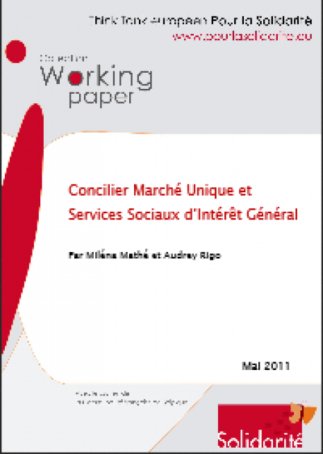 image couverture Concilier Marché Unique et Services Sociaux d'Intérêt Général