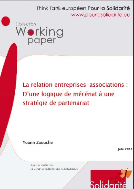 image couverture La relation entreprises-associations : D'une logique de mécénat à une stratégie de partenariat