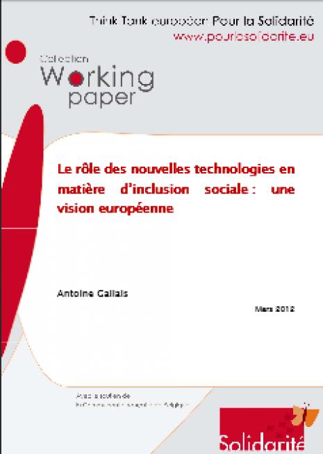 image couverture Le rôle des nouvelles technologies en matière d'inclusion sociale : une vision européenne