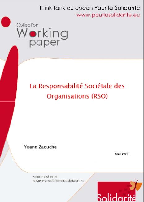 image couverture La Responsabilité Sociétale des Organisations (R SO)