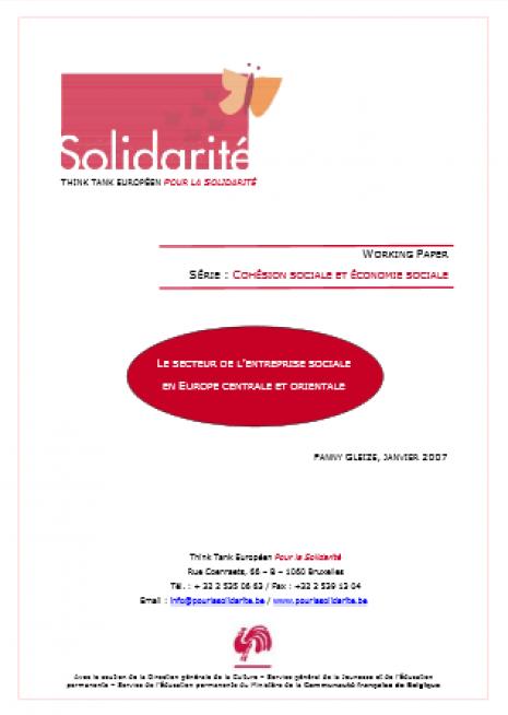 image couverture secteur de l'entreprise sociale europe centrale orientale