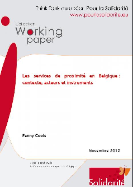 image couverture Les services de proximité en Belgique : contexte , acteurs et instrument