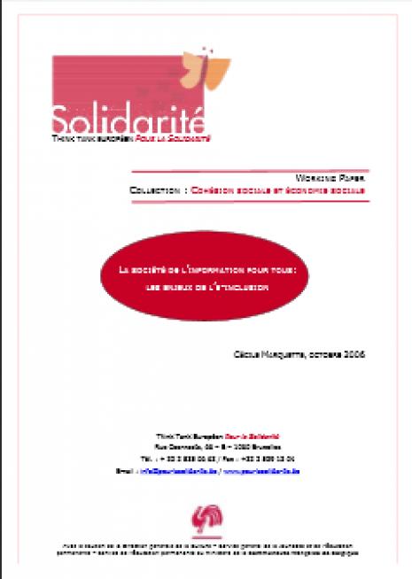 image couverture L A SOCIÉTÉ DE L ' INFORMATION POUR TOUS : LES ENJEUX DE L ' E - INCLUSION
