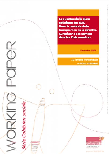 image couverture La question de la place spécifique des SSIG Dans le contexte de la directive