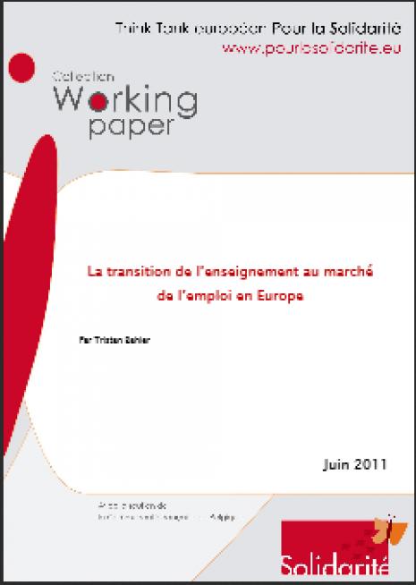 image couverture La transition de l'enseignement au marché de l'emploi en Europe