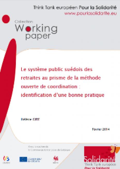 Le système public suédois des retraites au prisme de la méthode ouverte de coordination : identification d'une « bonne pratique » - cover